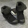 Homens Sapatos de Inverno ao ar livre Quentes de Pelúcia Botas Botas de Combate Militares Do Exército 2017 Masculino Martin Botas Botas de Neve Tornozelo Botas de Lona Ocasional