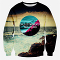 2017 new fashion 3d sweatshirt hoodie print beautiful scenery pullovers casual sweat shirts tops long sleeve autume/winter tops