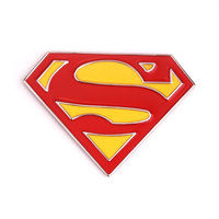3D Car Auto Metal Chrome Superman Emblem Badge Stickers Decal Red