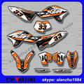 FREE SHIPPING 3M RACING TEAM GRAPHICS BACKGROUND DECALS STICKERS KITS FOR KTM SX  SXF 125 150 250 350 450 07 08 09 10