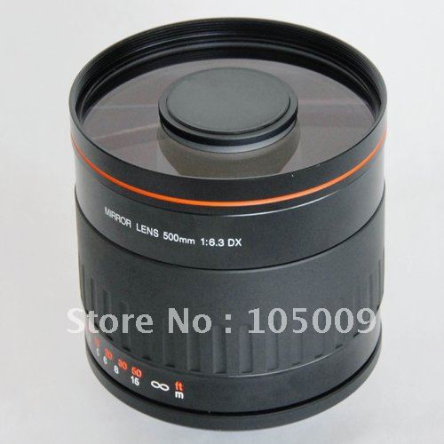 500mm f6.3 T Mount MIRROR TELEPHOTO LENS Black for canon ef ef-m nikon n1 pentax sony a e mount fuji Olympus camera image