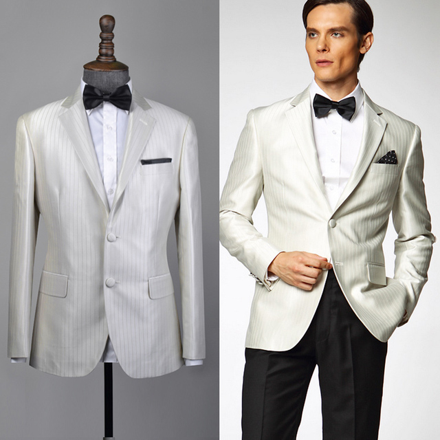 New Tailor Made Men\'s White Cocktail Dress Graduation Dress Party ...