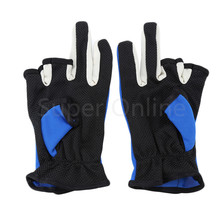 1 Pair 3 Low-Cut Fingers Fishing Gloves for Men Anti Slip Skidproof Fishing Rod Tackle Gloves for Fishing Lover 3 Colors