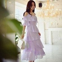 dabuwawa dress summer 2017 bohemian new fashion romantic ruffle strapless strap long holiday dresses women wholesale