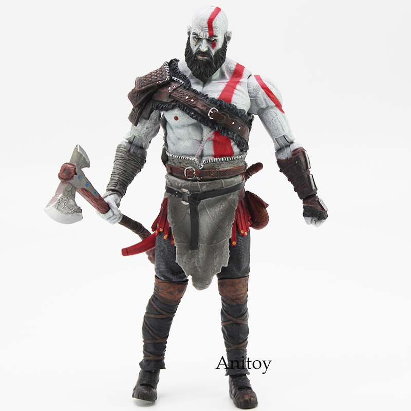 High Quality God of War 4 Kratos Action Figure Collectible Model Toy in OPP Bag 18cm Original Figure Toys