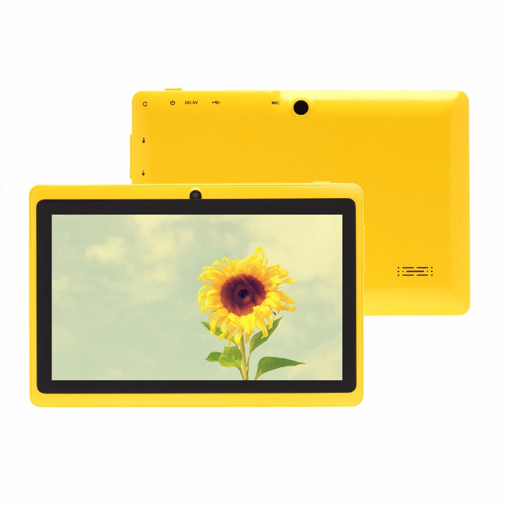 7 Inch Tab Pc WiFi Quad Core Tablet Pc 8GB Flash Storage Better For Children Gifts