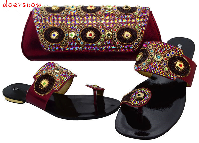 New Arrival African Women Shoes And Bag Set Party Shoes Heels 1.7cm Italian Shoes And Bags To Match For Ladies doershow  BCH1-31 good selling african women shoes and bag set fashion shoes heels 9cm italian shoes and bags to match for party as1 4