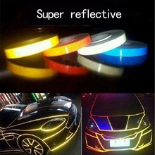 Car-styling Night Magic Reflective Tape 1.5cm*3m Automotive Body Motorcycle Decoration for opel toyota kia bmw ford renault