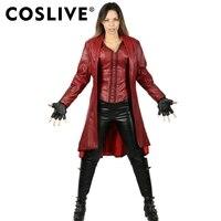 Coslive Captain America: Civil War Scarlet Witch Costume Scarlet Witch Cosplay Costume For Female Adult