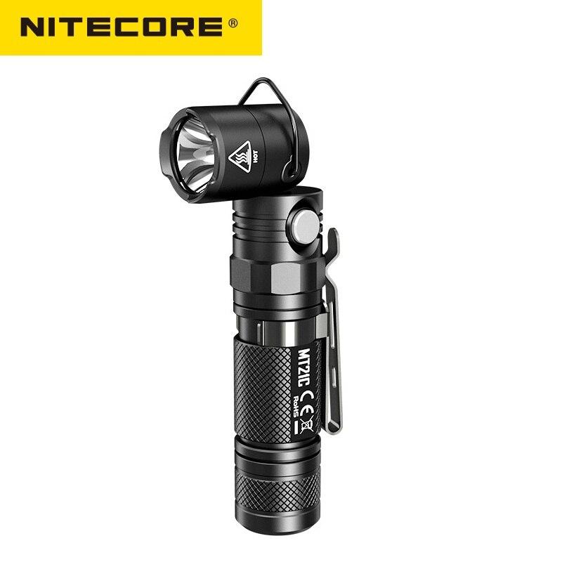 NITECORE MT21C Torche Anglelight CREE XP-L HD V6 1000LM 90 Degrés Réglable Angle Tête LED lampe de Poche par 18650 Batterie