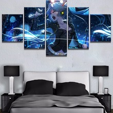 5 Piece Vocaloid Hatsune Miku Anime Girl Poster Cuadros Decoracion Paintings on Canvas Wall Art for Home Decorations Decor