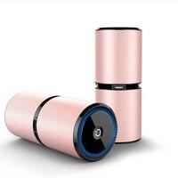 Air Diffuser Ortable Car Air Purifier Auto Car Home Fresh Air Ionic Purifier Oxygen With 2.1a Dual Usb Port 4 Color Humidificad