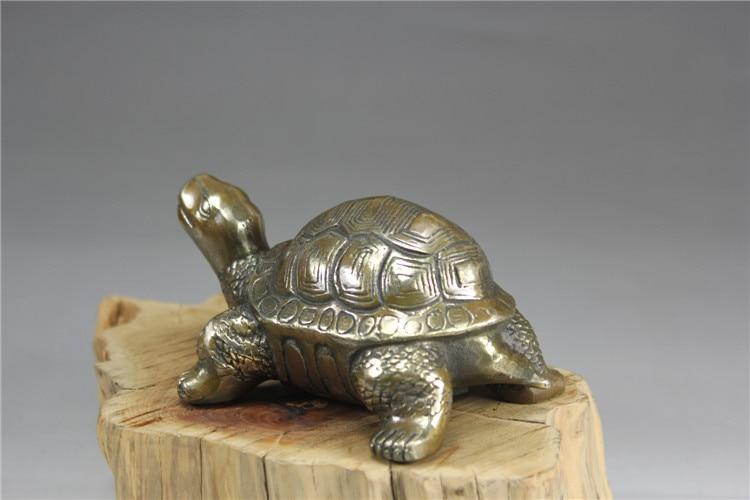 Chine ancienne bronze ornements antique tortue cuivre Statue