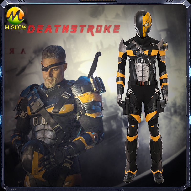 Deathstroke Cosplay Costume Men Full Set Slade Joseph Wilson Cosplay Costume Custom Made For Halloween Party