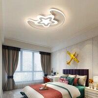 Branco moderno Levou Lustre de iluminação para o quarto das Crianças sala lustre de ferro e de acrílico lampadario luminaria Lustre de Teto