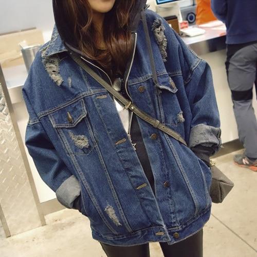 Nueva primavera las mujeres de moda chaqueta de mezclilla prendas de vestir exte