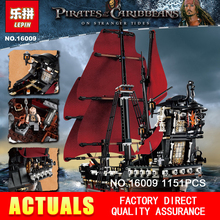 Nouveau LEPIN 16009 1151 pcs Reine Anne vengeance de Pirates des Caraïbes Building Blocks Set mini figure Briques Compatible 4195