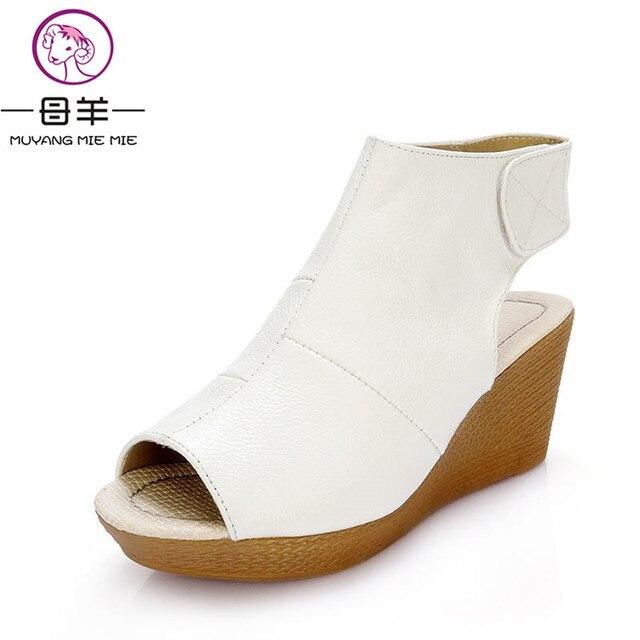 Keilsandalen Nationaler Stil High Heel Sandalen Damenschuhe Wedges Platform