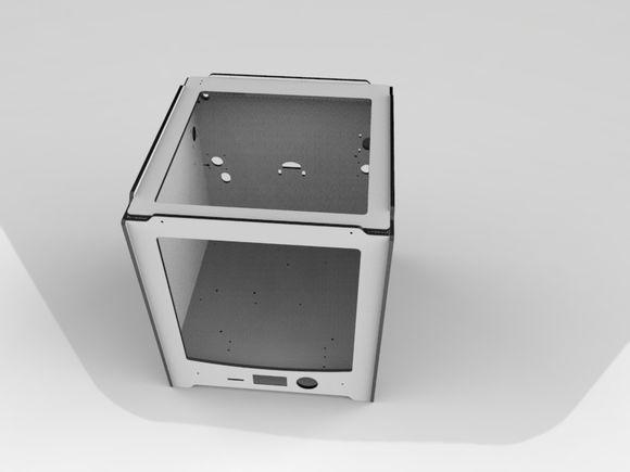 Ultimaker2 Extended aluminum alloy composite shell frame kit/set 6mm thick