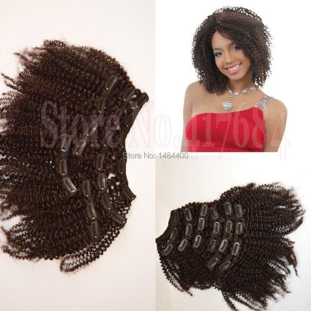 Горячая распродажа перуанский волосы афро кудрявый вьющиеся грубая 4c зажим для волос в наращивание волос