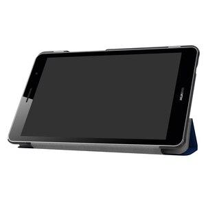 Тонкий складной чехол-подставка для Huawei Media Pad T3 8,0, умный чехол для планшета, ПК, защитный Магнитный чехол с функцией автоматического сна/про...