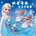 15.9-22.5 cm Meninas Sandálias de Salto Alto crianças 3 4 5 6 7 8 9 anos de idade azul ouro rosa meninas anna elsa sofia princesa sapatos