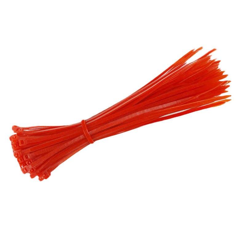100 ชิ้น/เซ็ตพลาสติก Zip Tie Fasten Wrap 100 มิลลิเมตร x 3 มิลลิเมตรสายเคเบิลไนลอนสายไฟ Zip Tie สายคล้องคอ V4318