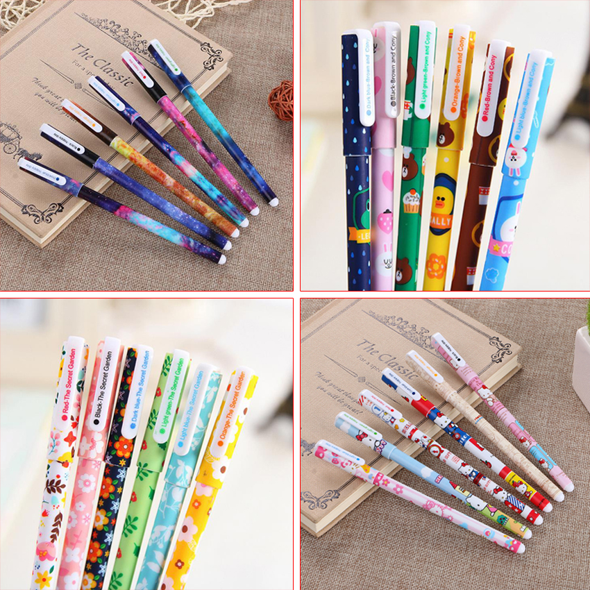 6 Pcs Lot Korea Stationery Creative Cartoon Animal And