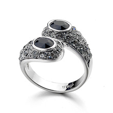 Fashion 18K Gold Plated Stainless Steel Nail Rings For Women DJM Jewelry(DJ0010)