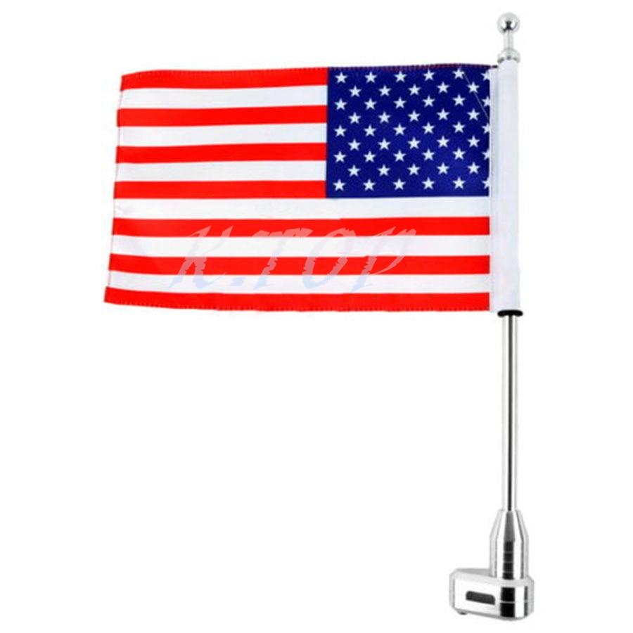 100% Waar Motorfiets Usa Vlag Vlag Pole Bagagerek Verticale Amerikaanse Voor 2001-2011honda Goldwing Gl1500 Van Het Grootste Gemak