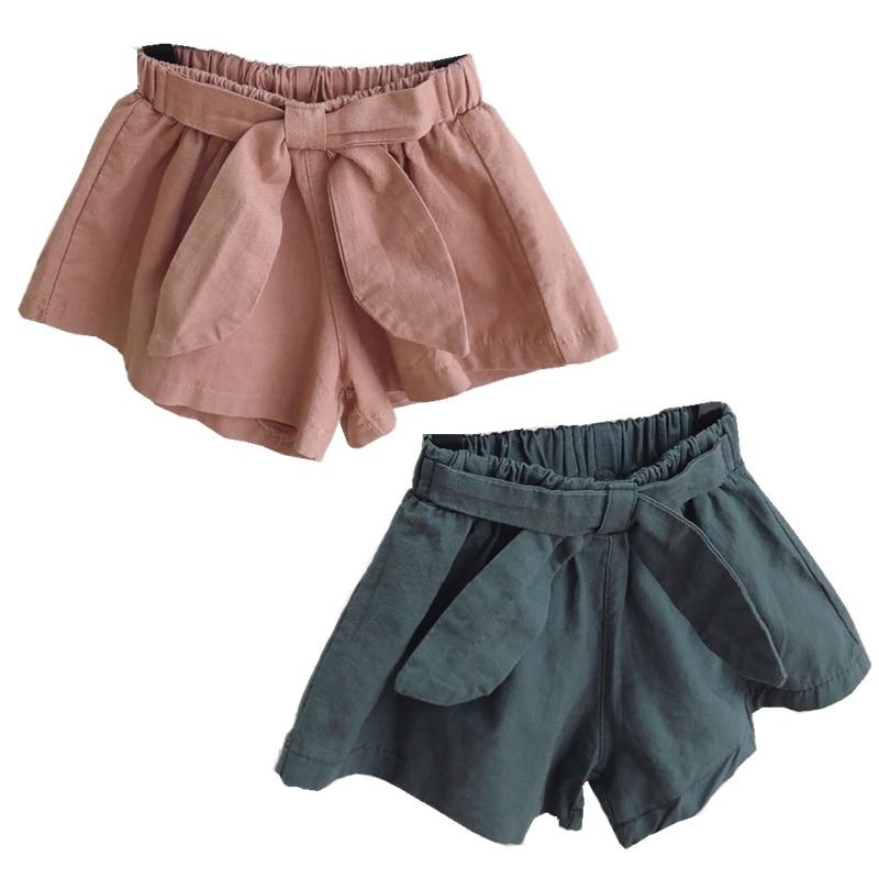 Celveroso 2 Cores Bebê meninas shorts de algodão crianças shorts crianças shorts para meninas roupas da menina da criança roupas de verão arco curto