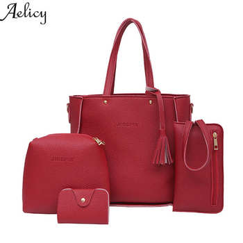 927dae336b38 High Quality 4 Piece Set Shoulder Bags for Women Leather Designer