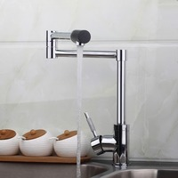 2014 Water Tap New Brand Swivel Spout Sink Kitchen Faucets 8528 2 Basin Chrome Tap Vessel