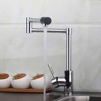 2014 Water Tap New Brand Swivel Spout Sink Kitchen Faucets 8528 2 Basin Chrome Tap Vessel