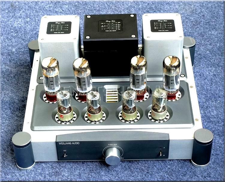 цена на Finished A40X2 Power Amplifier EL34 Tube Push-Pull Class A Power Amp 40W+40W Vacuum Tube Amplifier New