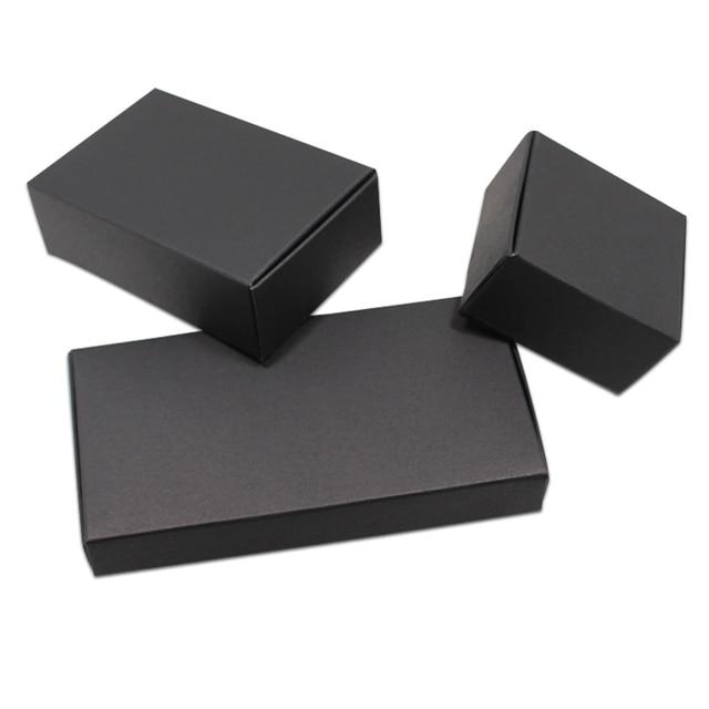20pcs Black Kraft Packaging Box Diy Craft Paper Cardboard
