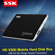 SSK HE V300 Mobile Hard Disk Box USB3.0 Notebook Free Case Tool SATA Interface HDD Enclosure for SSD 2.5 Inch High Speed