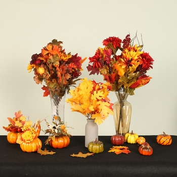 Autumn Fall Decorations Artificial Pumpkin Ornament