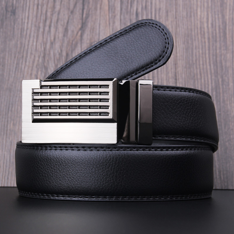 New Mens Designer   Belts   2017 Real Genuine Leather Automatic Buckle Male Waistbands   Belts   Luxury Ceinture Homme