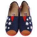 2016 новинка женщины красочные плоские обувь женские квартиры удобные женщин холст ленивый обувь весна лето обувь