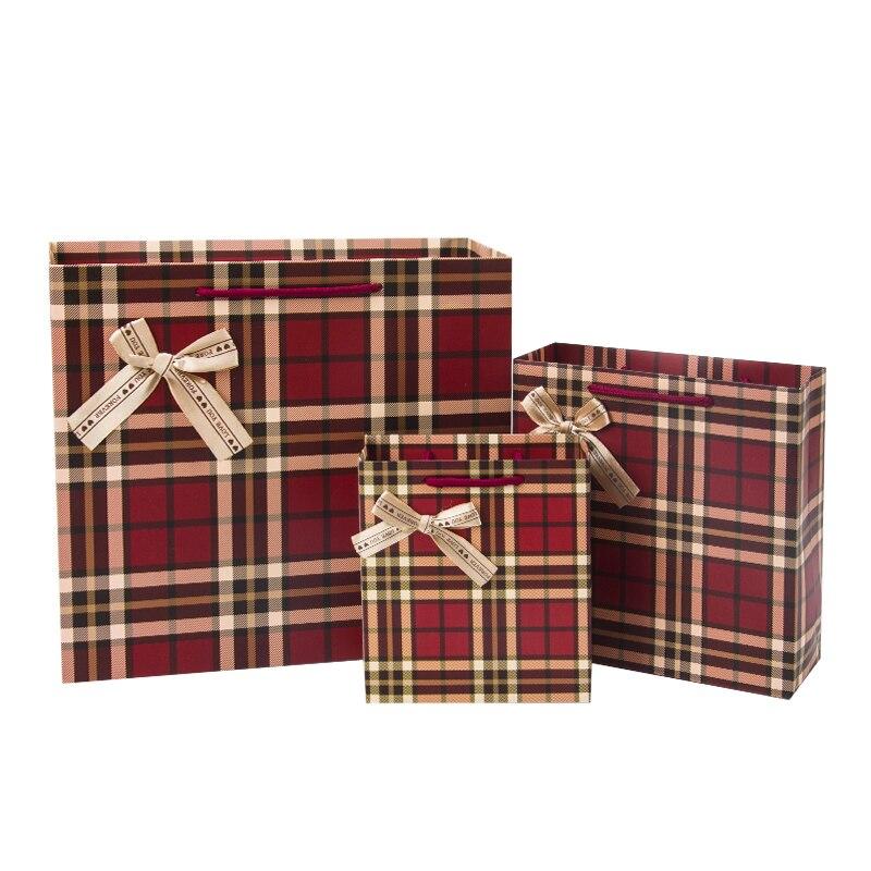 Vente chaude Rouge super classique sytle cadeau sac de papier portable avec bowknot convient pour partie déménagement giftbag de clôture de mariage