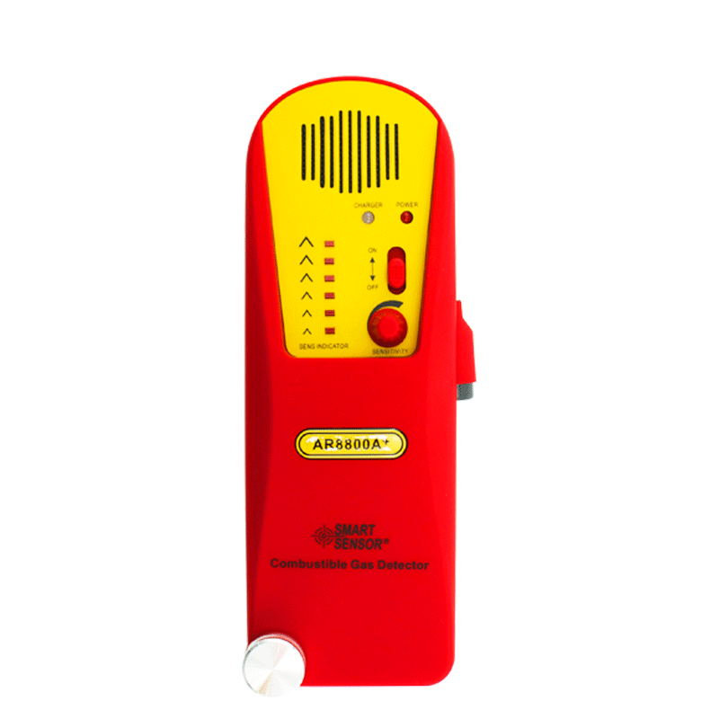 AR8800A+ Combustible Gas Leak detector tester Natural Gas Test Methane Gas Detector Coal Gas Detector + Lithium Battery portable combustible gas detector natural gas methane gas leakage alarm detector