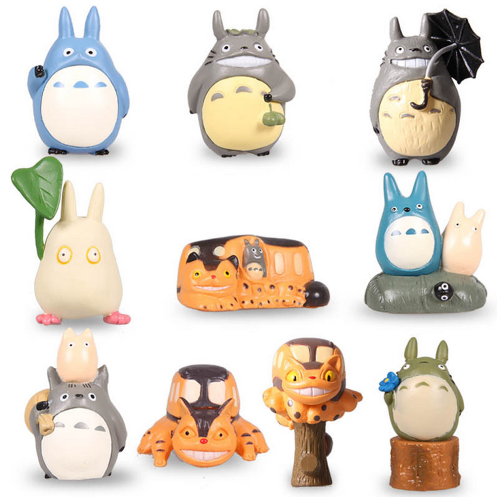 HOT Anime My Neighbor Totoro Set of 10pcs Mini Action Figures PVC Models Dolls font b