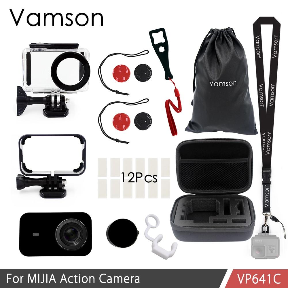Vamson para Xiaomi mijia 4 K de buceo impermeable caso proteger Shell caso de la Cámara 4 K Cámara de Acción vivienda conjunto cuerda de seguridad VP641