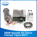 500W cnc spindle air cooled spindle motor 500w 220V power supply / 1set  er11 collet spindle 500w