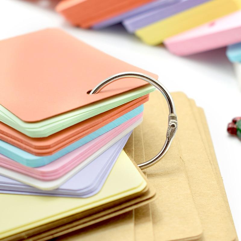 Leuke Kawaii Snoep Kleur Lege Kraftpapier Memo Pads Draagbare - Notitieblokken en schrijfblokken bedrukken - Foto 3