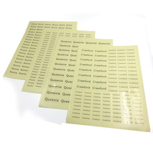 Transparent Personalized Name Stickers Waterproof Customize Labels School Stationery Water Bottle Office Supplies Tag Sticker