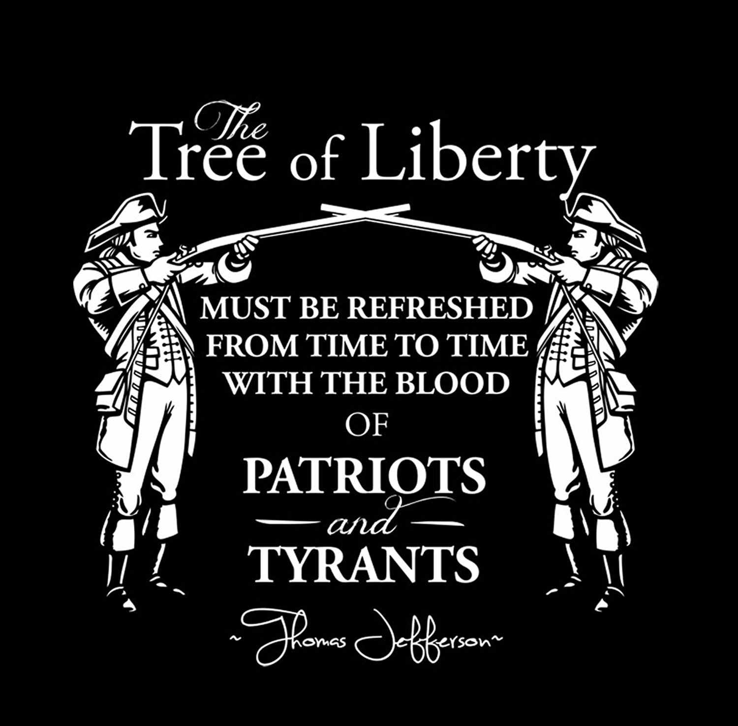 cee48d10c7b7 ... Mens Print T-shirt 100% Cotton Sons Of Libery The Tree Of Liberty Must  ...