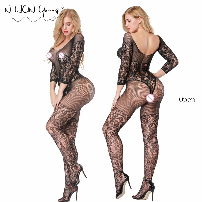 Women Sexy Lingerie Plus Size Hot Erotic Underwear Babydoll Fishnet Sleepwear Sex Costumes Lenceria Erotica Mujer Sexi QQ345 ...