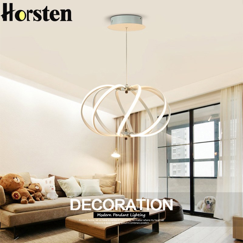 Horsten Creative Modern LED Pendant Lights Aluminum Acrylic Lantern Pendant Lamp Light For Living Room Dining Room Restaurant horsten modern simple led pendant lamps dining pendant lights aluminum acrylic ring hanging lamp restaurant home lighting 220v
